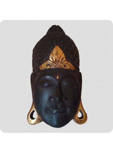 Large wooden buddha mask