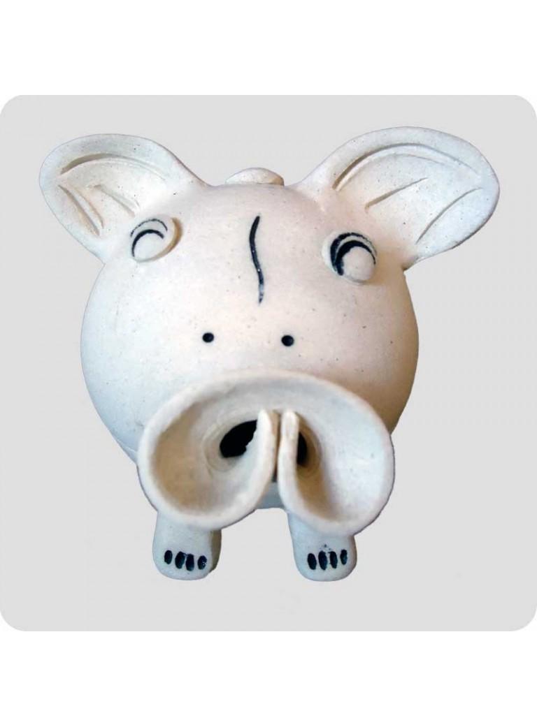 Røgelsesholder med toppe - gris