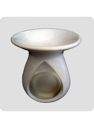 Aromalampe hvid keramik dråbe