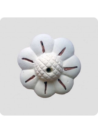 Incense holder white ceramic flower