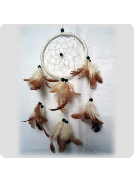 Dreamcatcher 1 ring 12 cm white