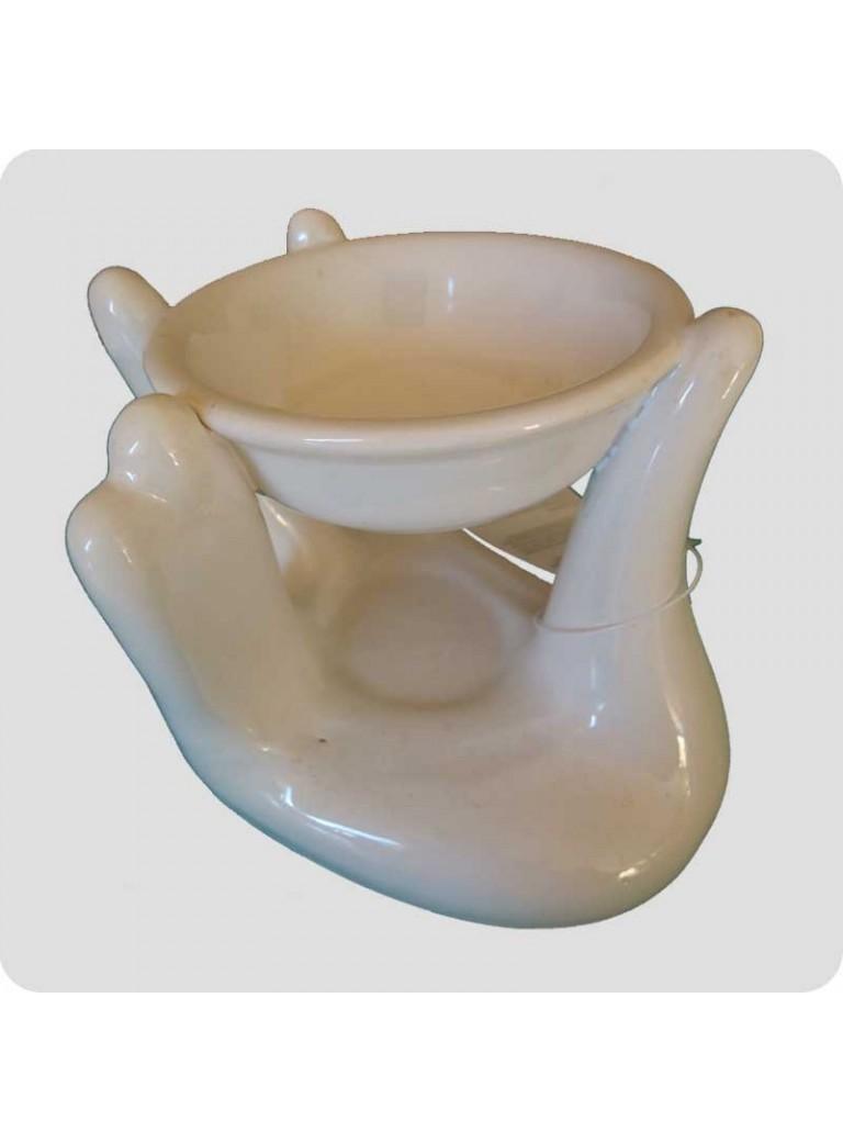 Oil burner hand white ceramic