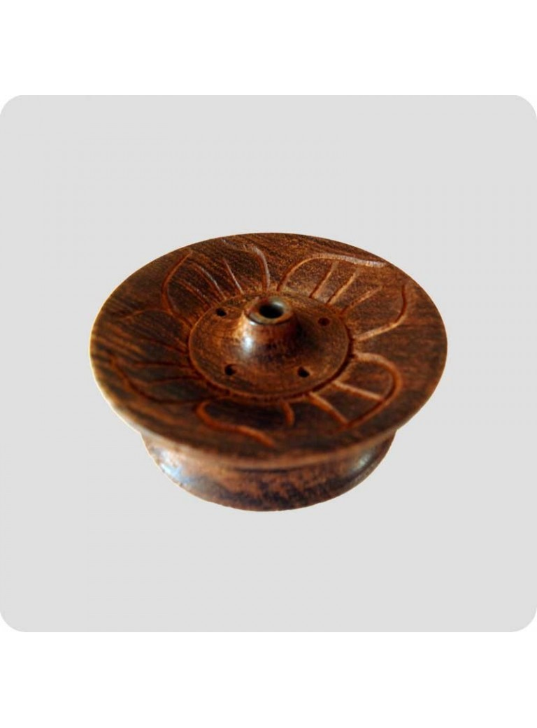 Tibetan incense holder wood flower