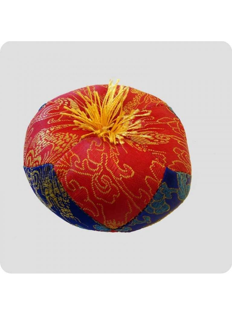 Cushion for singing bowls red/blue