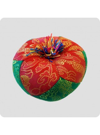 Cushion for singing bowls red/green