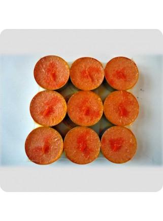 Fyrfadslys 9-pack appelsin