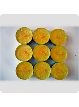 Fyrfadslys 9-pack citron
