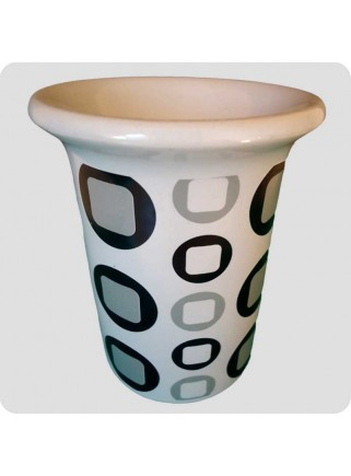 Aromalampe hvid keramik retro mønster
