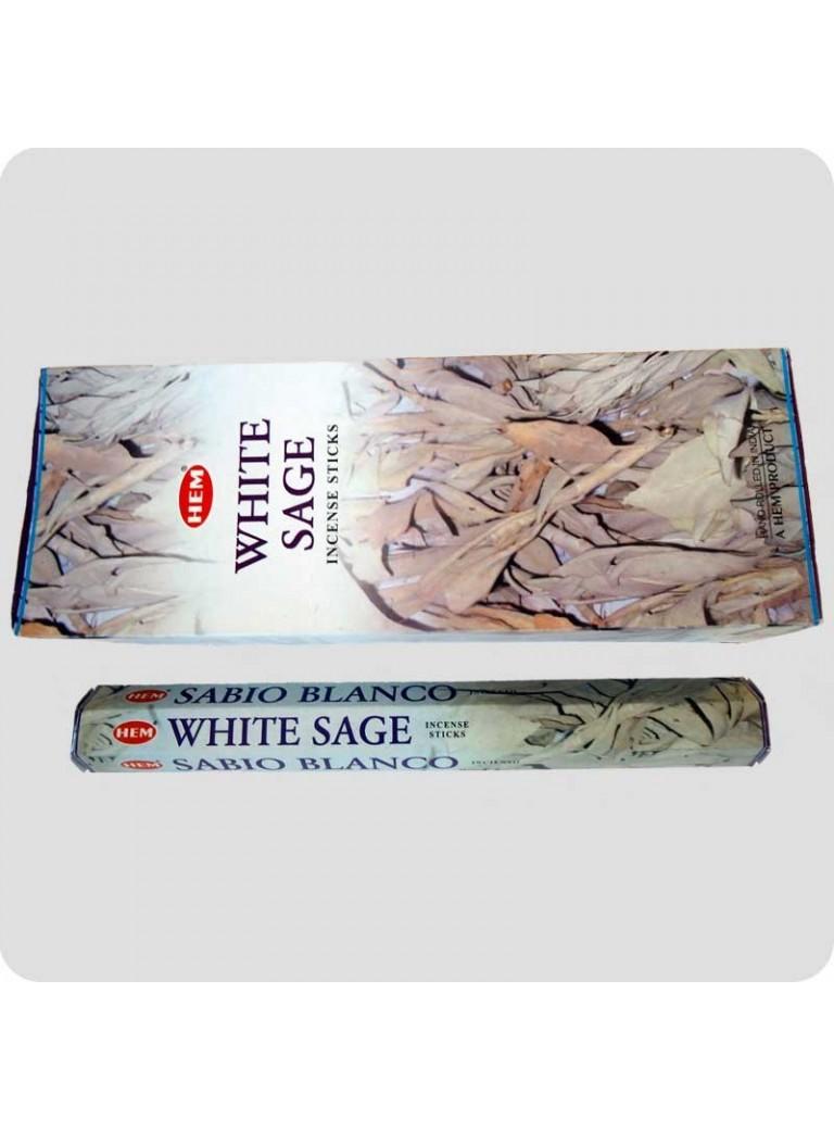 HEM hexa røgelse - White Sage (hvid salvie)