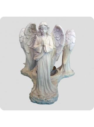 Aromalampe hvid 3 forskellige engle