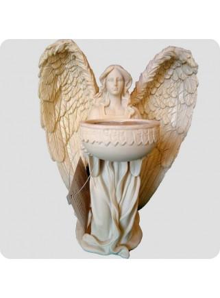 Knælende engel 18 cm med fyrfadsholder
