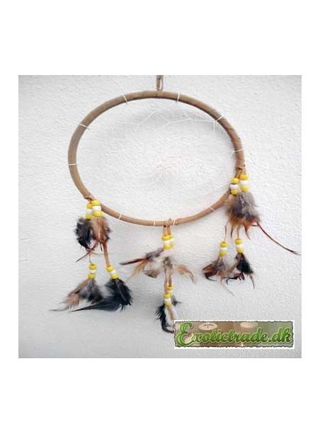 Dreamcatcher 16 cm light brown 1 ring