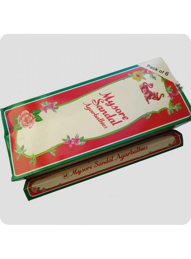 Mysore Sandel røgelse hexa pack