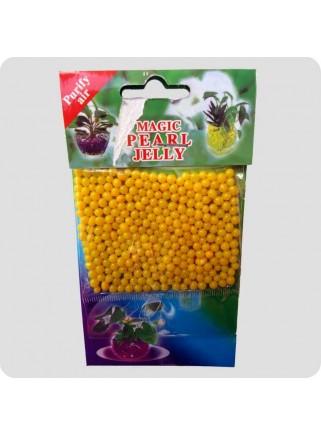 Geleperler til vaser gul