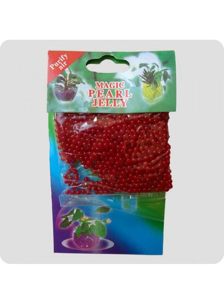 Geleperler til vaser rød